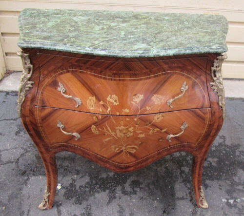 54919  Marble Top Satin Wood Louis XV dresser Chest