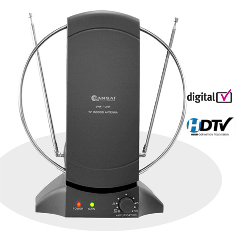 sansai Amplified Indoor TV Antenna