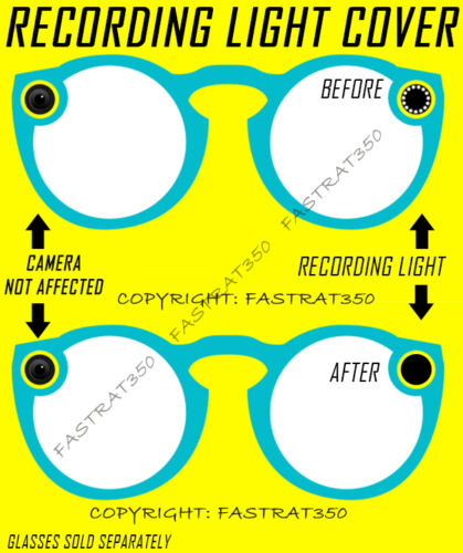 Snapchat Spectacles Recording Light Covers Kit for all generations of spectacles