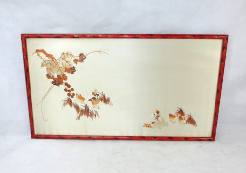 Fine Embroidered Picture Silk Embroidery Japan 1920s Years Chinalack