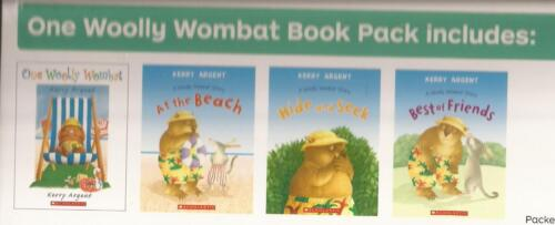 ONE WOOLLY WOMBAT 4 BOOK PACK At the Beach, Hide & Seek, Best of Friends Books