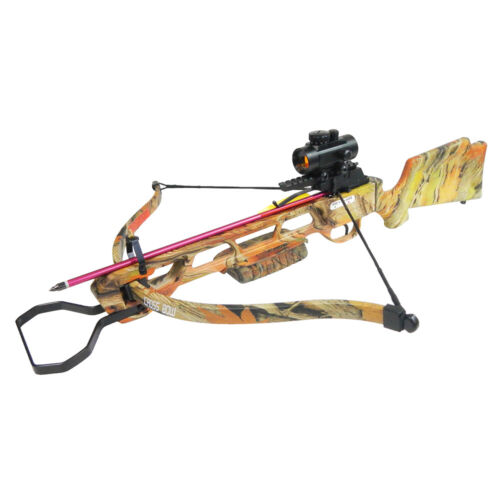 160 lb Autumn Camouflage Hunting Crossbow +Red Dot Scope +All Accessories 150 80Crossbows - 33972