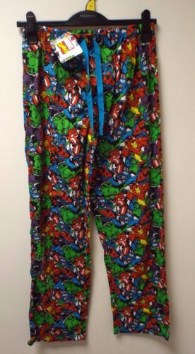 NEW MEN'S EX-STORE MARVEL LOUNGE PANTS PJ BOTTOMS SIZES: SMALL up to XL RRP £14