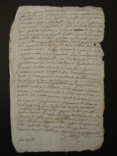 ANTIQUE FRENCH LEGAL MANUSCRIPT - DATED 1777