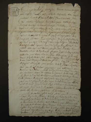 ANTIQUE FRENCH LEGAL MANUSCRIPT - DATED 1786 from Correze