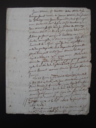 ANTIQUE FRENCH LEGAL MANUSCRIPT - DATED 1809