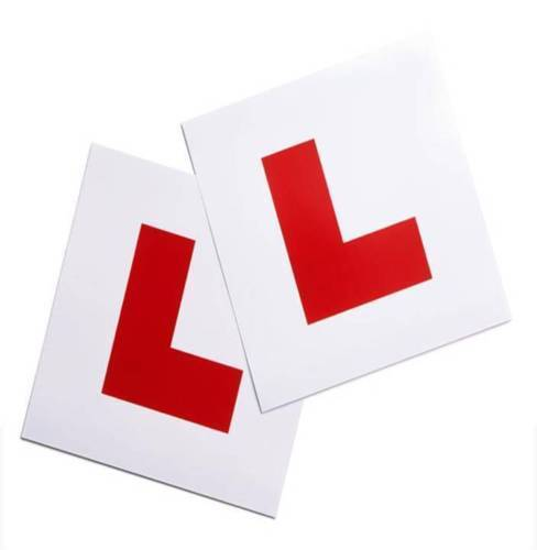 MAGNETIC LEARNER DRIVER 2 X L, PLATE FOR CARS AND BIKES, UNBELIEVABLE VALUE