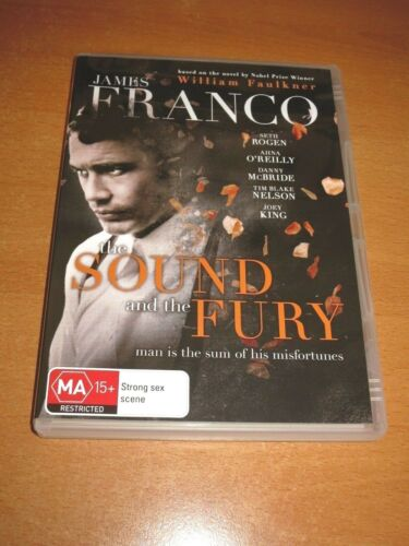 SOUND AND THE FURY ( DVD , REGION 4 ) JAMES FRANCO * LIKE NEW *