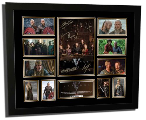 VIKINGS TV SHOW SEASON 4 CAST SIGNED LIMITED EDITION FRAMED MEMORABILIA