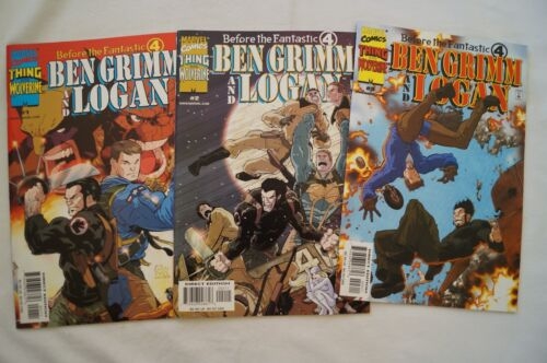 CLASSIC MARVEL COMIC BOOKS - Ben Grimm and Logan - Issues # 1, 2, 3.