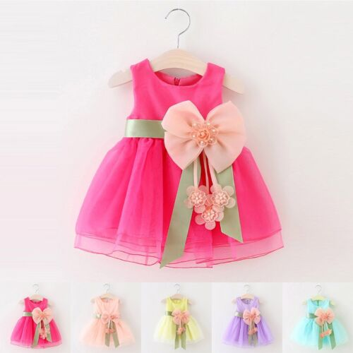 New Flower Girl Princess Dress Kid Baby Party Wedding Pageant Tulle Tutu Dresses