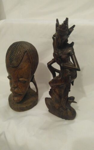 2 Amazing Rare Hand Carved Wood Pieces * Unknown Age & Make !!