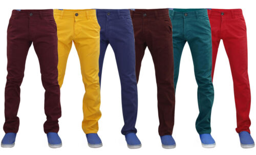 New Mens Kushiro City Cotton Chinos Slim Fit Casual Jeans Trousers Pants
