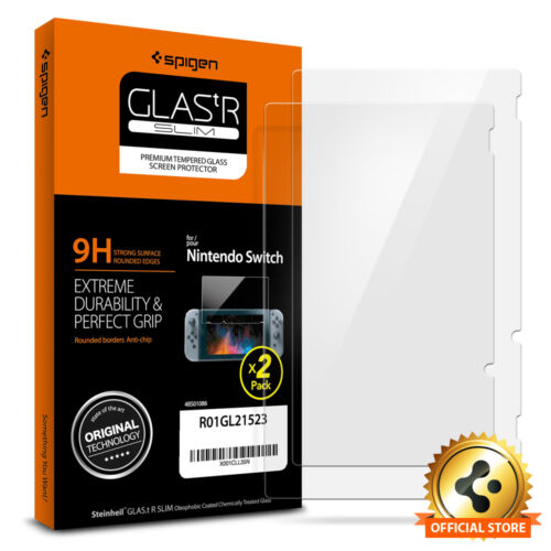Spigen® Nintendo Switch Tempered Glass Screen Protector [Glas.tR SLIM] 2PACK