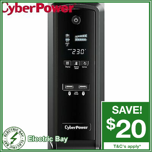 CyberPower CP1500EPFCLCDa-AU 1500VA Backup UPS System 6 outlet Surge Protector