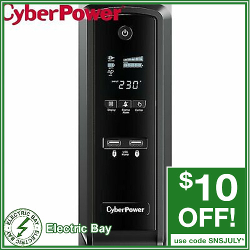 CyberPower 1500VA UPS CP1500EPFCLCDa Uninterruptible Power Supply 6 Outlet