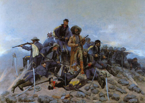 The Last Stand - Custer  by Frederic Remington  Giclee Canvas Print Repro