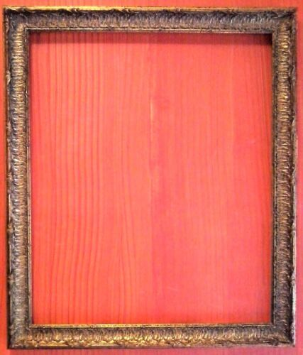 """FAB! STANDARD 20 X 24 PICTURE FRAME CARVED GOLD LEAF ALL WOOD 2"""" WIDE N/R"""