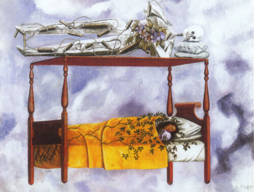 The Dream   by Frida Kahlo  Giclee Canvas Print Repro