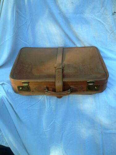 """vintage leather luggage by """"Madler"""" Germany, 24"""" X 16"""""""