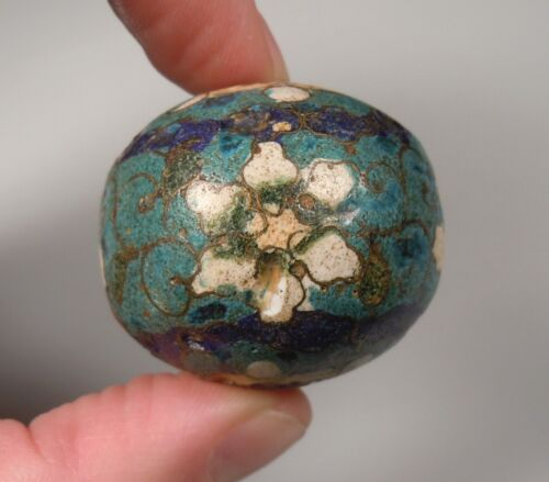 Vintage Large Chinese Cloisonne Bead 3.4 x 3.8cm         47133