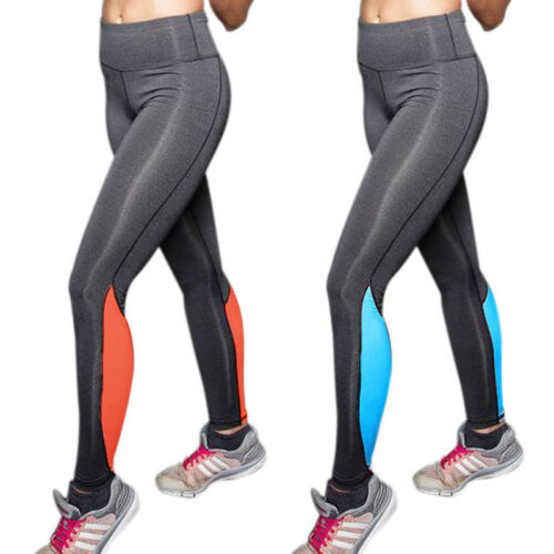 Womens Yoga Fitness Jogging Slim Fit Leggings Gym Stretch Sport Pants Trousers