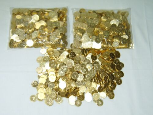 Top Holiday Gifts 50 NEW GOLDEN PACHISLO  SKILL SLOT MACHINE TOKENS