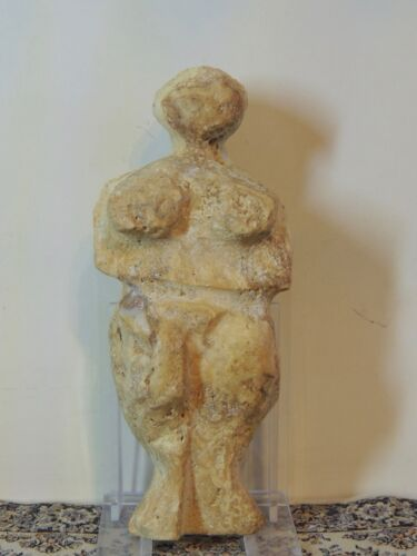 Antique Stone Figure statuette,mother godess,fertility Humanoid,idol,alien,