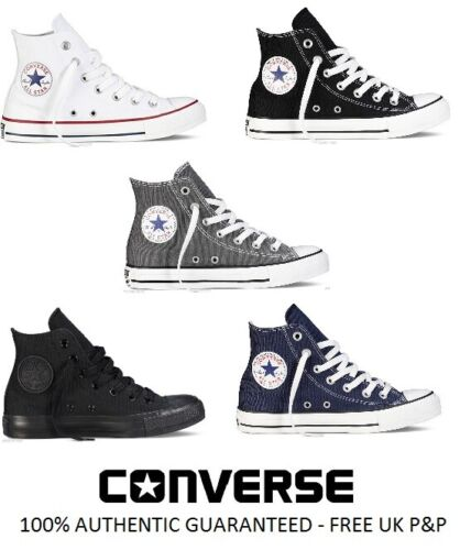 NEW Converse All Star CT Hi Top Canvas Trainers White Black Grey UK Size 3 4 5 6 <br/> FAST POSTAGE, 100% AUTHENTIC CONVERSE HI TOPS 5 COLOURS
