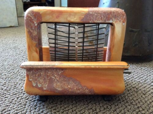 Vintage Antique Pan Electric Onyxide Toastrite Toaster 1920's Orange