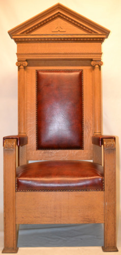 Masonic Lodge Throne Chair