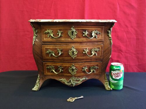 Antique 19th Century French Miniature Jewelry Cabinet