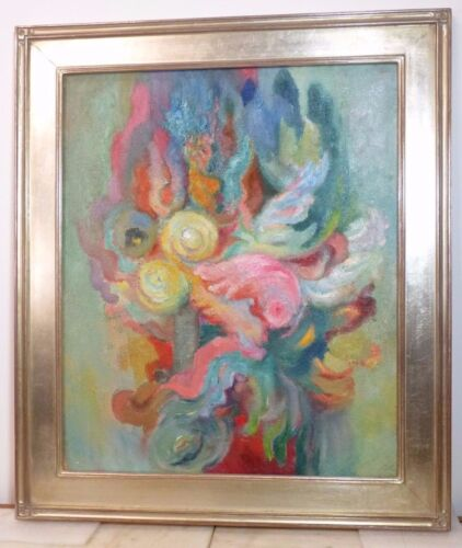 RENE PROU c.1930 FRENCH ART DECO MODERNIST OIL PAINTING Listed Christies Catalog
