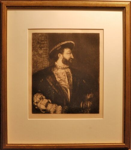 Portrait De Francois The First From L'Art, an original etching by Carl Koepping