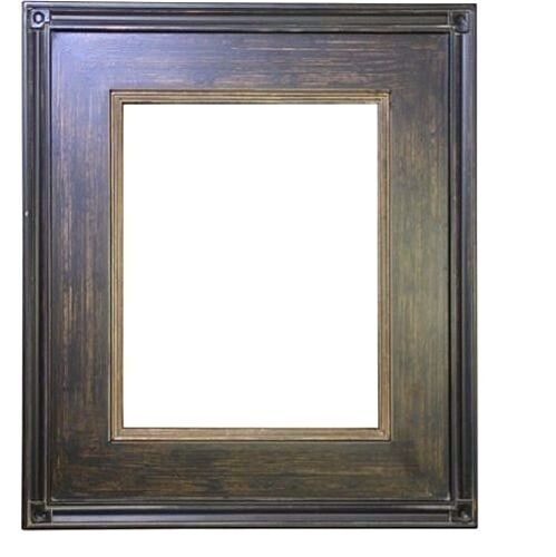 "STANDARD 18 X 24 PICTURE FRAME BROKEN GOLD & BLACK FINISH 3"" WIDE NIB FREE SHIP"