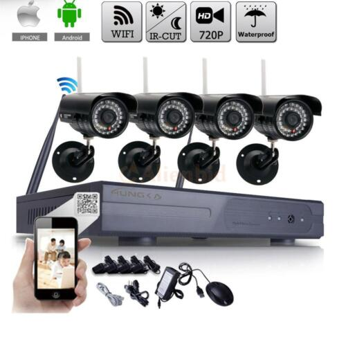 WIFI 8CH HD Wireless IP Camera NVR Outdoor Home Security Systems Night Vision US