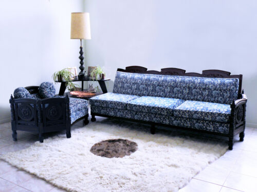 mid century FRENCH mod hollywood regency ROCOCO baroque sofa couch sectional