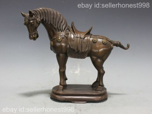 China Feng shui Lucky attract Wealth Tang Horse Bronze Copper Horse Statue