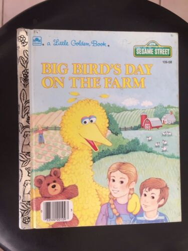 A Little Golden Book, Sesame Street, Big Bird's Day on the Farm, HC 109-58 A Ed