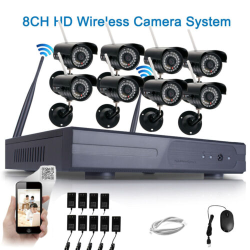 WIFI HD 720P IP Camera Security System 8CH CCTV NVR Wireless Home Video Outdoor