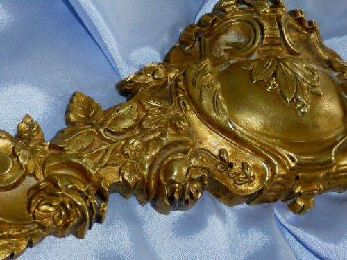 ANTIQUE FRENCH BRONZE/ BRASS ORMOLU FURNITURE PEDIMENT MOUNT 14""