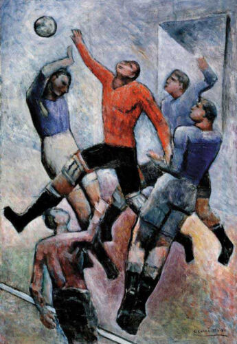 Football Game  by Carlo Carra  Giclee Canvas Print Repro