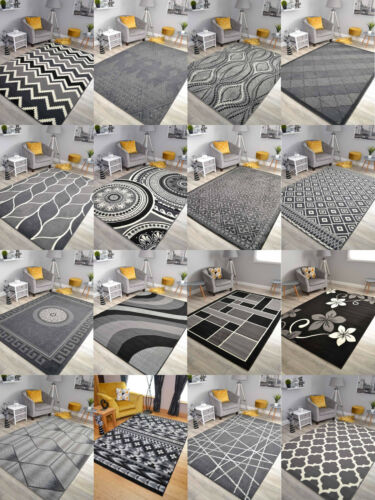New Black Grey Silver Small Extra Large Big Huge Size Floor Carpet Rug Mat Cheap
