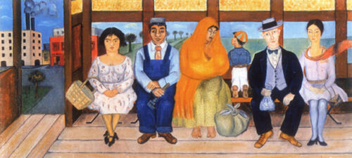 The Bus  by Frida Kahlo  Giclee Canvas Print Repro