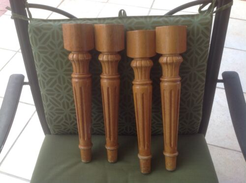 26B VTG Table/chair Legs Solid Wood In Light Tone Set Of 4