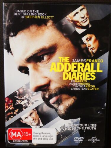 The Adderall Diaries - James Franco (DVD, 2016, region 4, Like New) cg3