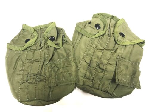 Vietnam Nylon Canteen Cover, 1969 Dated Plastic Snap 2 packPersonal, Field Gear - 36065
