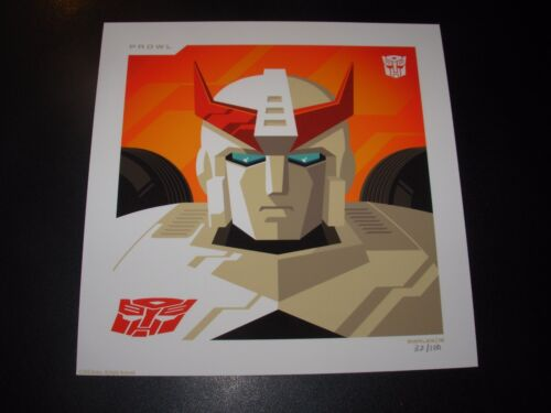 THE TRANSFORMERS Autobots PROWL poster art print Tom Whalen n/100