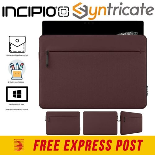 MICROSOFT SURFACE PRO 7+/7/6/5/4/3 INCIPIO TRUMAN PADDED SLEEVE COVER - BURGANDY
