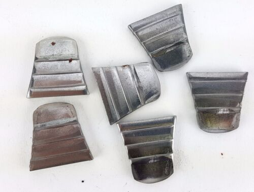 """6 PACK LOT 1-1/8"""" RIBBED STEEL WEDGES WOODEN HAMMER HANDLES SLEDGE DRILLING AXE"""
